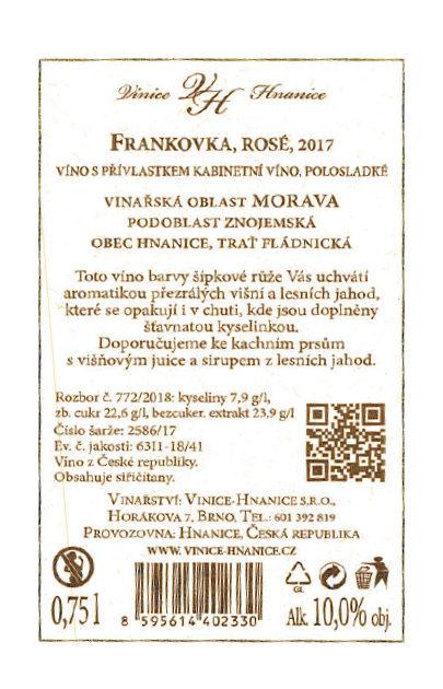 Frankovka Rosé_2017_polosladké 2