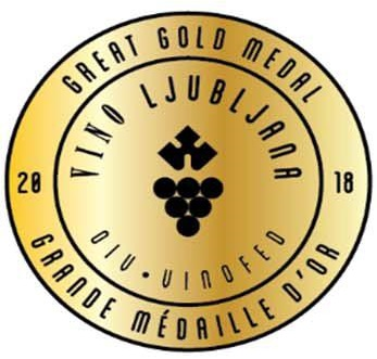Vino Ljubljana 2018 - GREAT GOLD MEDAL + NATIONAL CZECH CHAMPION